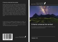 Portada del libro de Criterio universal de verdad