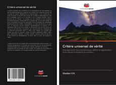 Buchcover von Critère universel de vérité