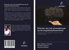 Capa do livro de Effecten van het schoolklimaat op de ongedisciplineerdheid