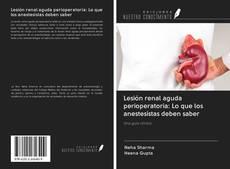 Portada del libro de Lesión renal aguda perioperatoria: Lo que los anestesistas deben saber