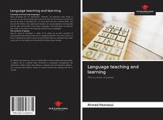 Bookcover of Language teaching and learning