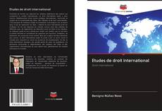 Etudes de droit international的封面