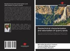 Portada del libro de Geotechnical characterization and valorization of quarry sands