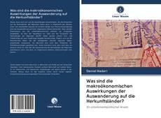 Was sind die makroökonomischen Auswirkungen der Auswanderung auf die Herkunftsländer? kitap kapağı
