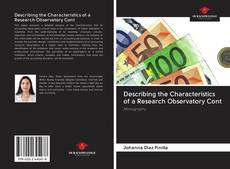 Couverture de Describing the Characteristics of a Research Observatory Cont