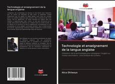 Обложка Technologie et enseignement de la langue anglaise