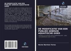 Bookcover of DE MODIFICATIE VAN EEN PUBLIEK GEBRUIK AQUATISCHE GOED