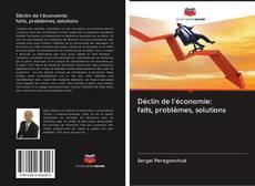Couverture de Déclin de l'économie: faits, problèmes, solutions