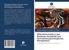 Borítókép a  Öffentliche Politik in den Bereichen Sozialhilfe und technisches psychologisches Management: - hoz