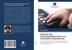 Copertina di Vorläufer der Technologieübernahme zur finanziellen Eingliederung