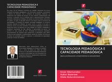 TECNOLOGIA PEDAGÓGICA E CAPACIDADE PEDAGÓGICA kitap kapağı