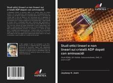 Portada del libro de Studi ottici lineari e non lineari sui cristalli ADP dopati con aminoacidi