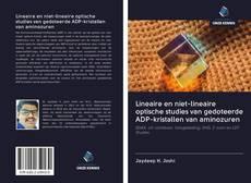Bookcover of Lineaire en niet-lineaire optische studies van gedoteerde ADP-kristallen van aminozuren