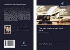 Capa do livro de Thema's van internationaal recht