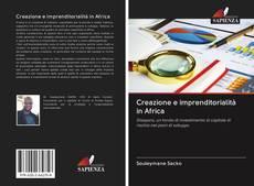 Portada del libro de Creazione e imprenditorialità in Africa