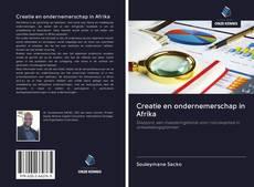 Creatie en ondernemerschap in Afrika kitap kapağı