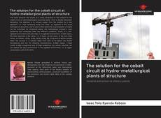 Bookcover of The solution for the cobalt circuit at hydro-metallurgical plants of structure