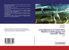 "Buchcover von Investigations on Some New Models in Debugging and ""Growth"" Theory"