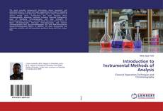 Bookcover of Introduction to Instrumental Methods of Analysis