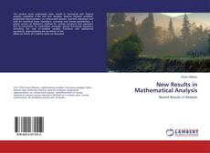 Couverture de New Results in Mathematical Analysis