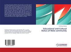 Bookcover of Educational and Cultural Status of Malo community