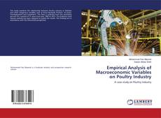 Bookcover of Empirical Analysis of Macroeconomic Variables on Poultry Industry