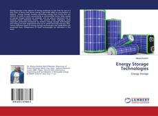 Couverture de Energy Storage Technologies