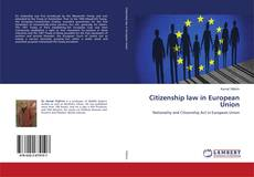 Portada del libro de Citizenship law in European Union