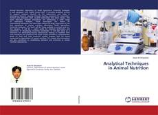 Copertina di Analytical Techniques in Animal Nutrition