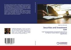 Bookcover of Securities and Investment Law
