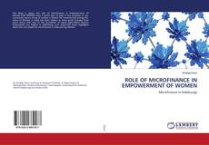 Couverture de ROLE OF MICROFINANCE IN EMPOWERMENT OF WOMEN