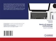 Basics of research methodology kitap kapağı