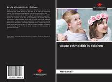 Bookcover of Acute ethmoiditis in children