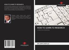 Capa do livro de HOW TO LEARN TO RESEARCH