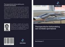 Therapeutische behandeling van lumbale spondylose kitap kapağı