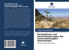Copertina di Perspektiven und Herausforderungen der netzunabhängigen Solarenergie