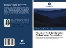 Mimesis im Werk der Memoiren des Lazarus von Adonijah Son kitap kapağı