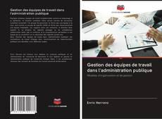 Buchcover von Gestion des équipes de travail dans l'administration publique