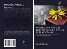 Maatschappelijk werk in de gezondheidszorg, het onderwijs en de gerontologie kitap kapağı