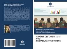 Capa do livro de ANALYSE DES LIQUIDITÄTS- UND RENTABILITÄTSVERHALTENS