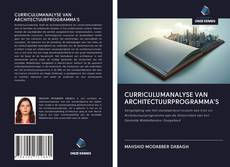 Bookcover of CURRICULUMANALYSE VAN ARCHITECTUURPROGRAMMA'S
