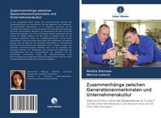 Buchcover von Zusammenhänge zwischen Generationenmerkmalen und Unternehmenskultur