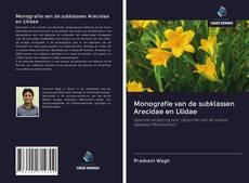 Capa do livro de Monografie van de subklassen Arecidae en Lilidae