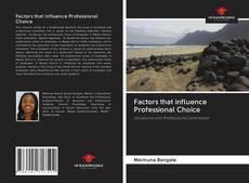 Capa do livro de Factors that influence Professional Choice