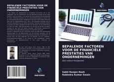 BEPALENDE FACTOREN VOOR DE FINANCIËLE PRESTATIES VAN ONDERNEMINGEN的封面
