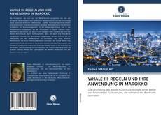Bookcover of WHALE III-REGELN UND IHRE ANWENDUNG IN MAROKKO