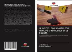 LA NOUVELLE LOI 12.403/11 ET LE PRINCIPE D'INNOCENCE ET DE DIGNITÉ: kitap kapağı
