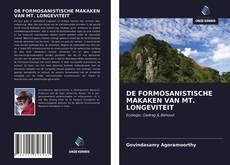 Couverture de DE FORMOSANISTISCHE MAKAKEN VAN MT. LONGEVITEIT