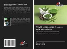 Copertina di Attività antidiabetica di alcune erbe ayurvediche