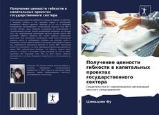Bookcover of Получение ценности гибкости в капитальных проектах государственного сектора